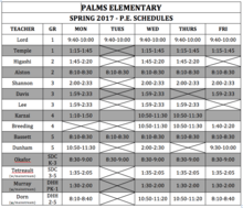 Palms Spring 2017 PE Schedule